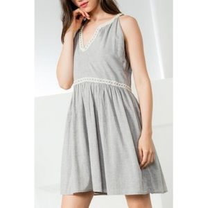 Anthropologie THML Embroidered A-Line Dress